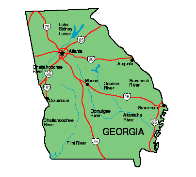 Map of State of Georgia